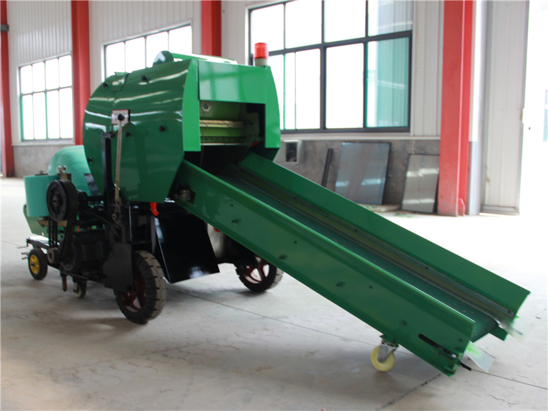 Automatic Hay Baler and Wrapper