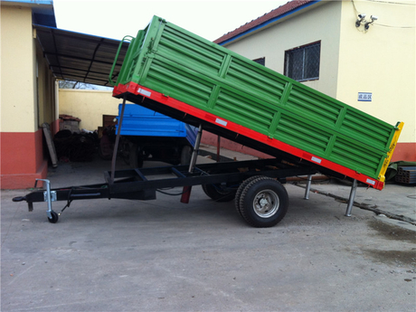 Single Axle Hydraulic Unloading Trailer