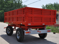 Double Axles Artificial Unloading Trailer
