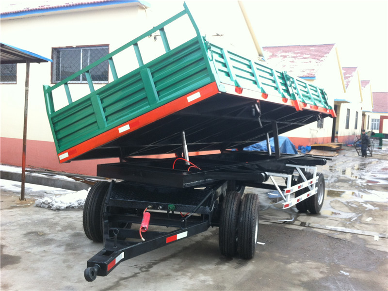 Double Axles Hydraulic Unloading Trailer