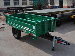 Single Axle Artificial Unloading Trailer