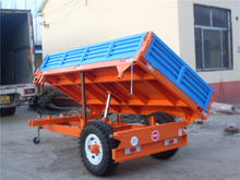 Single Axle Trailer with Hydraulic Unloading(European Style)